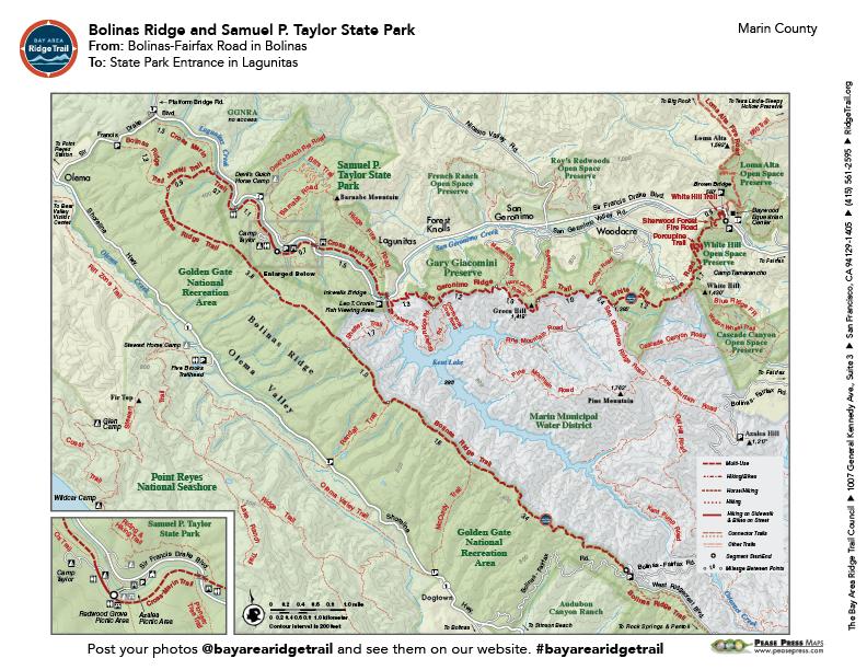 Bolinas Ridge to Samuel P. Taylor State Park