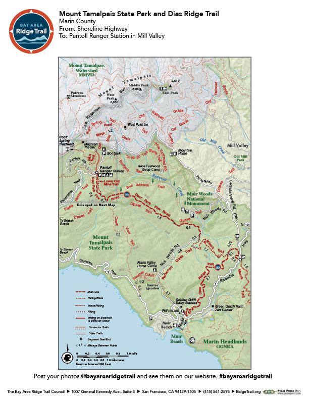 Mount Tamalpais State Park and Dias Ridge Trail