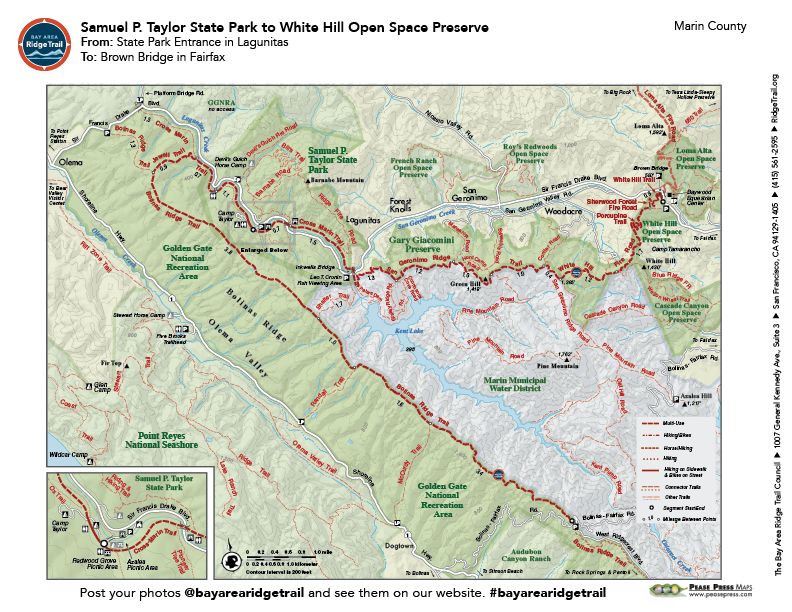 Samuel P. Taylor State Park to White Hill Open Space
