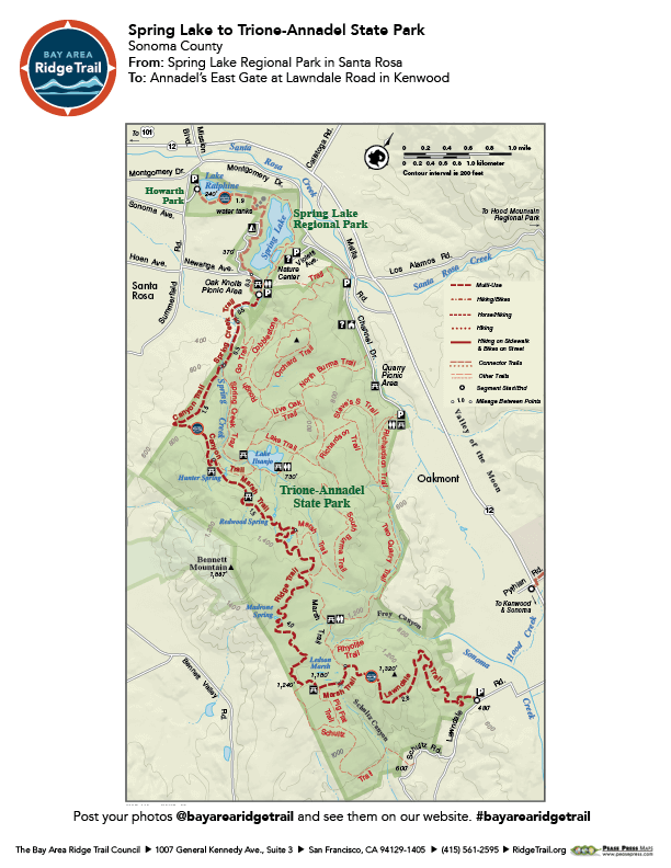 Spring Lake to Trione-Annadel State Park