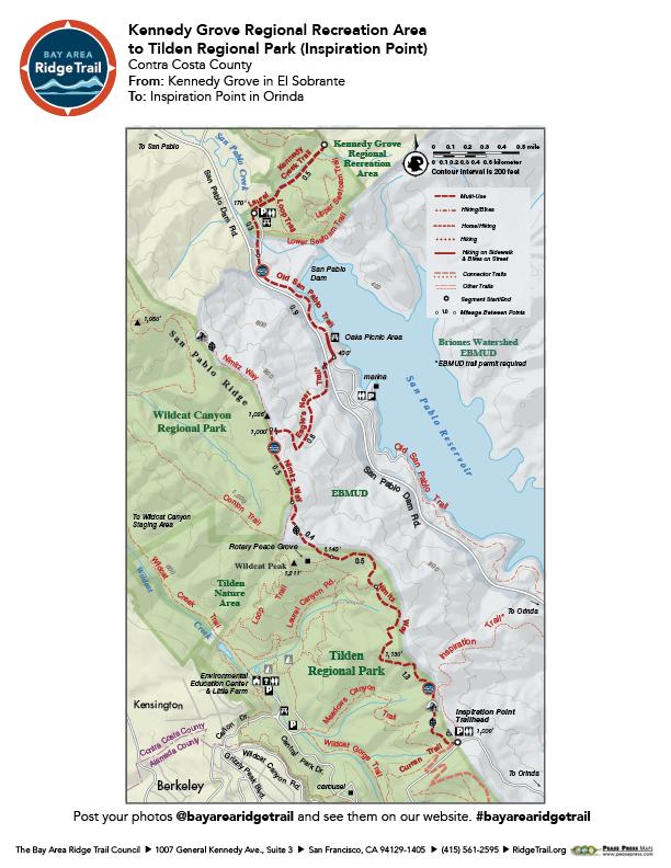 Kennedy Grove Regional Recreation Area to Tilden Regional Park (Inspiration Point)