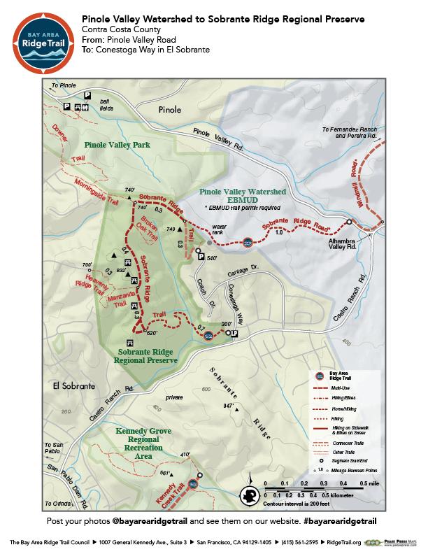 Pinole Valley Watershed to Sobrante Ridge Regional Preserve