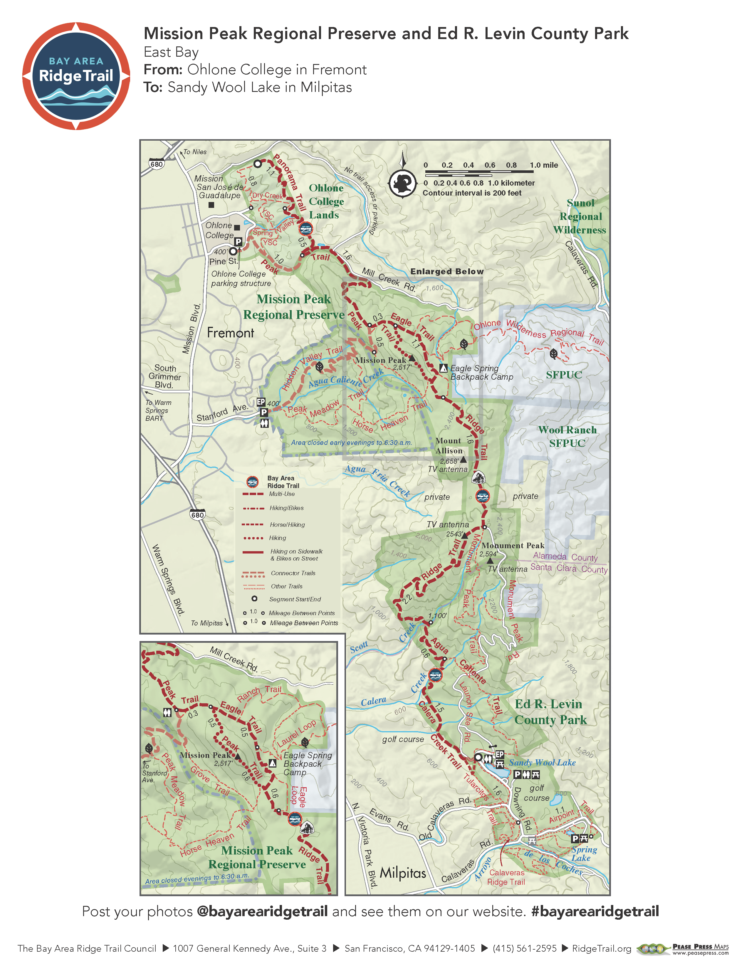 Mission Peak Regional Preserve and Ed R. Levin County Park