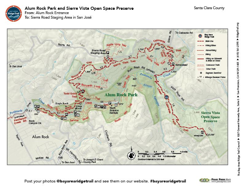 Alum Rock Park and Sierra Vista Open Space