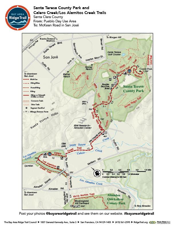 Santa Teresa County Park and Calero/Los Alamitos Creeks Trail