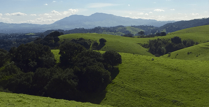 view of mount diablo from carquinez loop