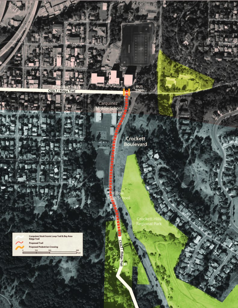 map of crockett blvd. proposed project