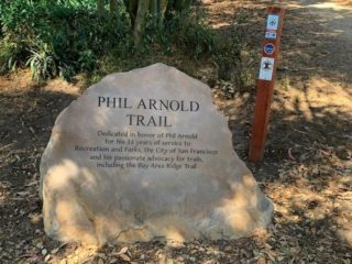 Last month, friends and family of the late Phil Arnold, former Ridge Trail Board Member, gathered in Golden Gate Park to celebrate the unveiling of a memorial boulder honoring his work as an avid parks and trail advocate. Help us celebrate Phil's legacy by enjoying a walk on the Phil Arnold trail in GG Park. You can find a map and more information at the link in our bio.