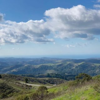 Rolling green hills, blue skies and fluffy clouds 😌   📷: Windy Hill Open Space Preserve, @themontskel  #bayarearidgetrail #trails #outdoors #nature #hiking #biking #equestrian #bayarea
